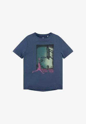PLACED PRINT - T-shirt print - true navy|blue