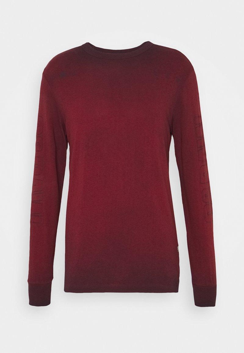 G-Star - LOGO OVERDYE  - Long sleeved top - dry red/sartho blue