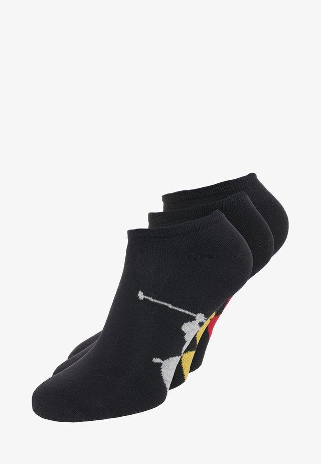 SOLE 3 PACK - Trainer socks - black