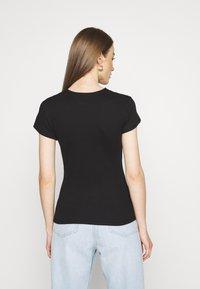 Vero Moda - VMLENA CAP SLEEVE - Basic T-shirt - black - 2