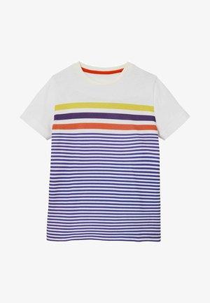 AUS FLAMMGARN - Print T-shirt - blitzblau/naturweiß