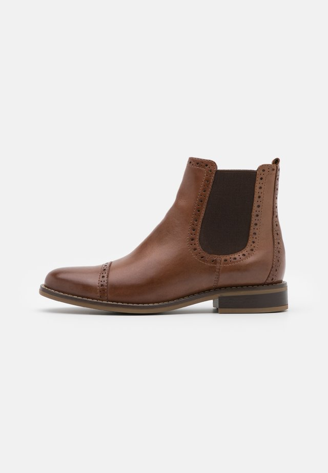 LEATHER - Kotníkové boty - brown