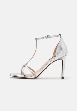 ONLALYX T-BAR - Sandals - silver