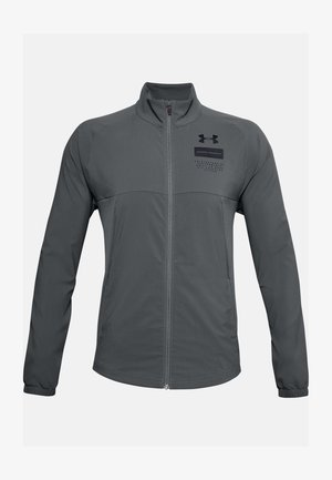 SUMMER WOVEN FZ - Training jacket - pitch gray