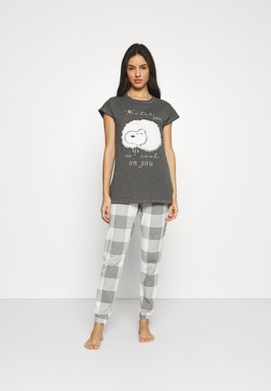 SHORT SLEEVES LONG PANT SET - Pyžamová sada - lunar