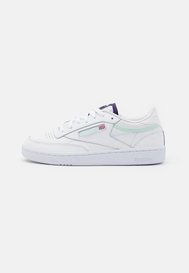 CLUB C 85 - Matalavartiset tennarit - footwear white/dark orchid/aqua dust