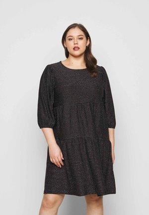 VMSKY 3/4 SHORT DRESS - Day dress - black
