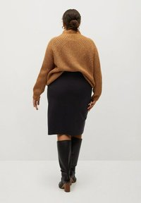 Violeta by Mango - CHOP - A-line skirt - black - 2