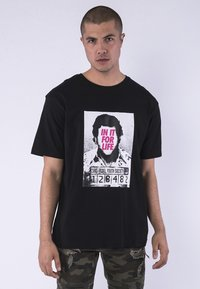 Cayler & Sons - CAYLER & SONS HERREN CSBL FOR LIFE SEMI BOX TEE - Print T-shirt - bk/pink - 0