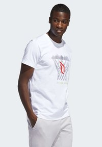 adidas Performance - DAME  - Print T-shirt - white - 2
