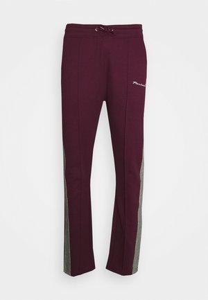 CHECK TAPE  - Pantaloni sportivi - burgundy