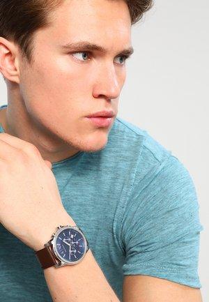 Chronograph watch - dunkelbraun