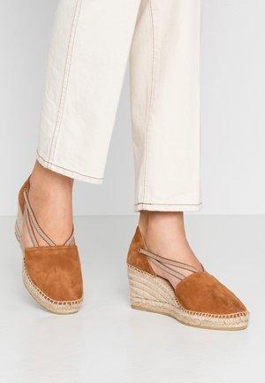 ANIA - Platform heels - cognac