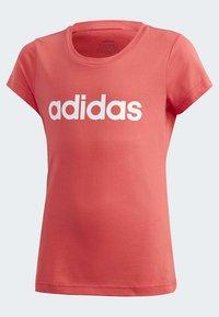 adidas Performance - ESSENTIALS LINEAR T-SHIRT - T-shirt imprimé - pink - 3