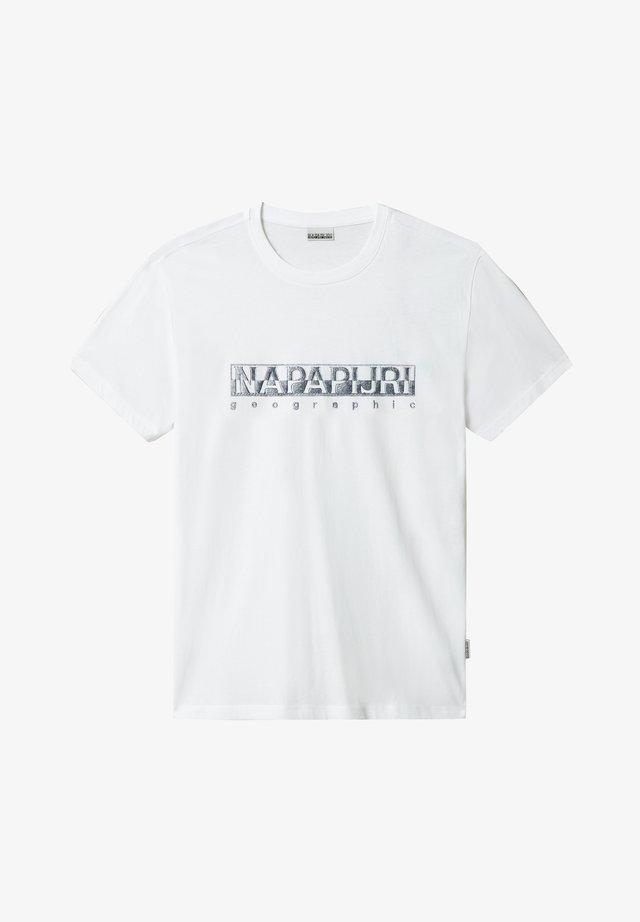 SALLAR - Camiseta estampada - bright white