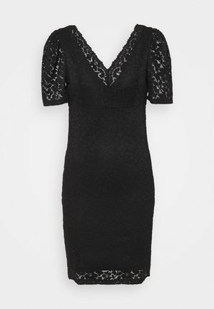 ONLNEW ALBA PUFF V-NECK DRESS - Cocktail dress / Party dress - black