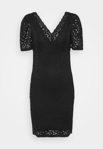 ONLNEW ALBA PUFF V-NECK DRESS - Koktejlové šaty/ šaty na párty - black