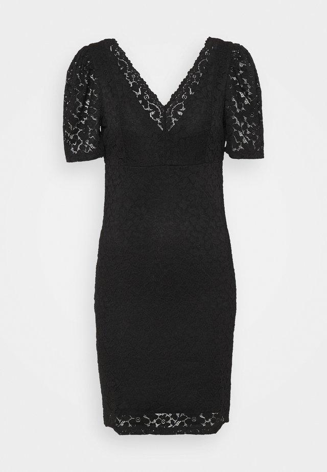 ONLNEW ALBA PUFF V-NECK DRESS - Cocktail dress / Party dress - black