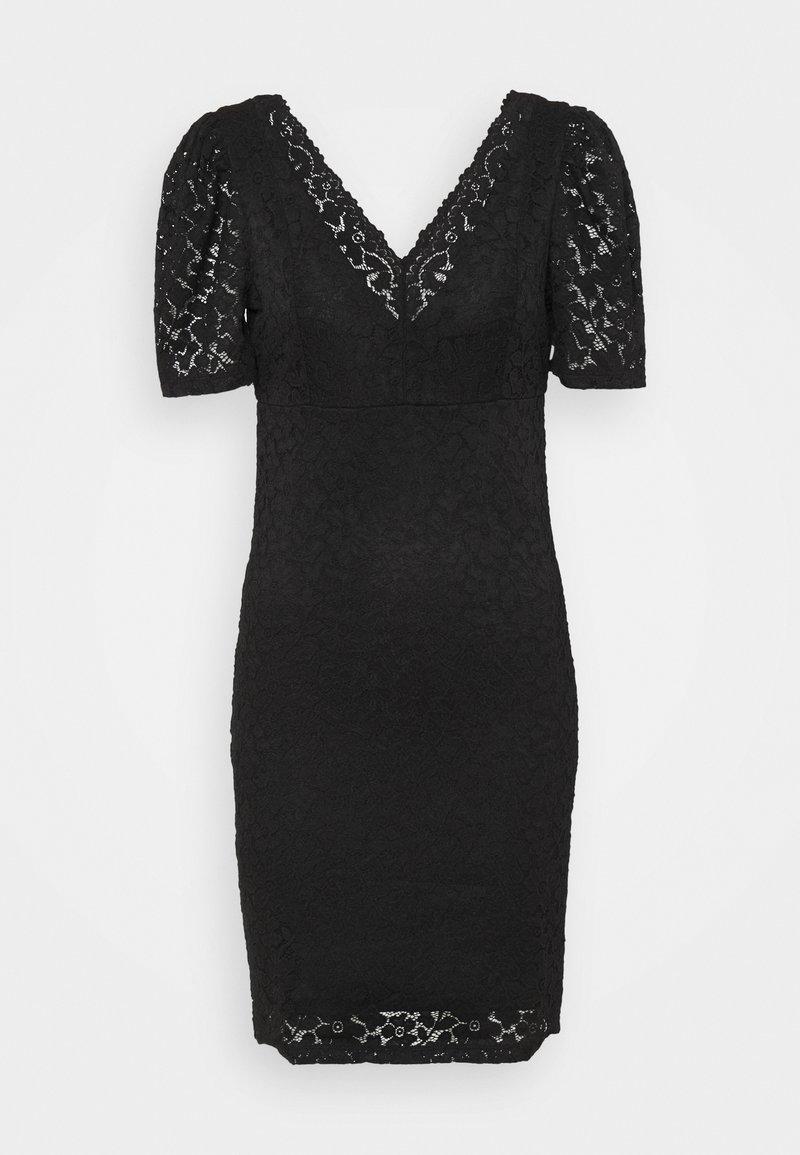 ONLY - ONLNEW ALBA PUFF V-NECK DRESS - Cocktail dress / Party dress - black