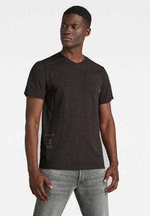 Print T-shirt - dk black