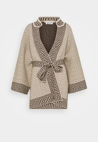 Johnstons of Elgin - DYNASTY KIMONO JACKET - Chaqueta de punto - natural/dark chocolate - 0