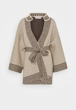 DYNASTY KIMONO JACKET - Chaqueta de punto - natural/dark chocolate