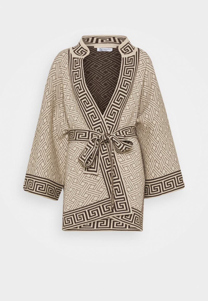 Johnstons of Elgin - DYNASTY KIMONO JACKET - Chaqueta de punto - natural/dark chocolate