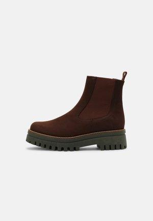 SAVINA - Platform ankle boots - brown