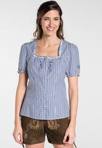 Spieth & Wensky - KAPRIO - Button-down blouse - blue/white - 0