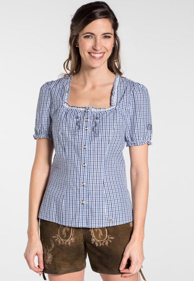 Spieth & Wensky - KAPRIO - Button-down blouse - blue/white