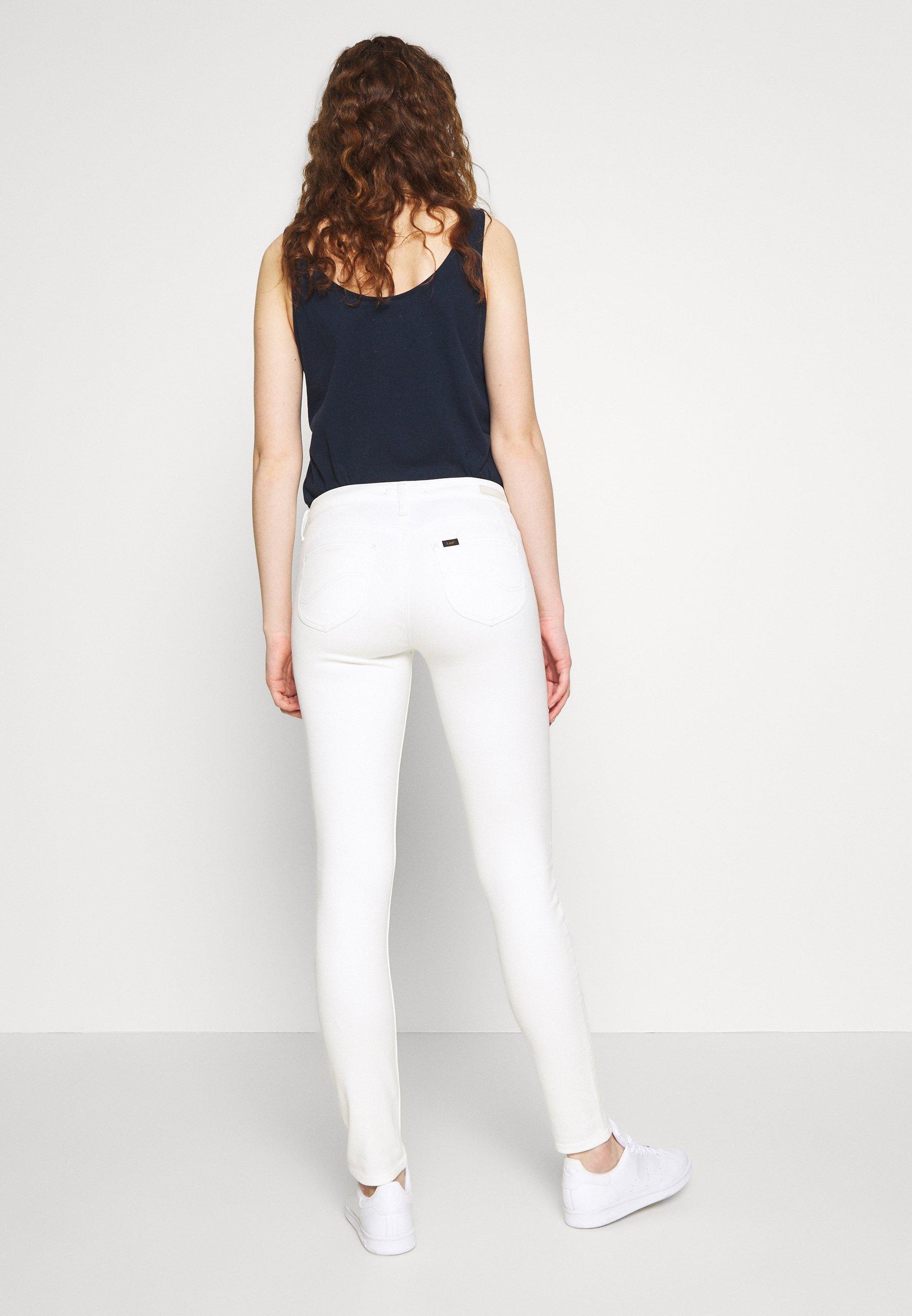 Lee SCARLETT BODY OPTIX - Jeans Skinny - ecru - Jeans Femme avN6a