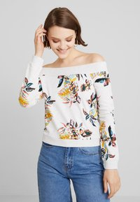 ONLY - ONLBIRDY OFF SHOULDER  - Sweater - oatmeal - 0