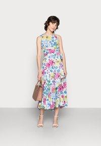 Thought - TABITHA TIE WAIST FLARE DRESS - Day dress - white - 1