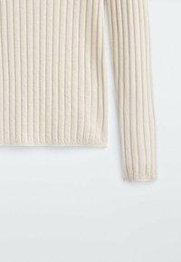 Massimo Dutti - Stickad tröja - beige - 3