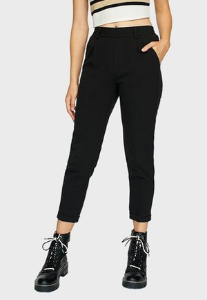 SLIM-FIT - Trousers - black