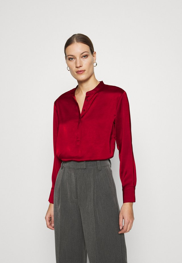 TUNIC HIGH SLIT - Bluse - mulled cranberry