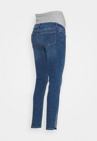 MAMALICIOUS - MLPARK BUMPBAND SLIT - Jeans Skinny Fit - dark blue denim - 1