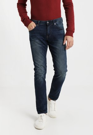 PIERS - Jean slim - dark stone wash denim