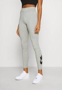 Nike Sportswear - LEGASEE FUTURA - Leggings - Trousers - dark grey heather/black - 0