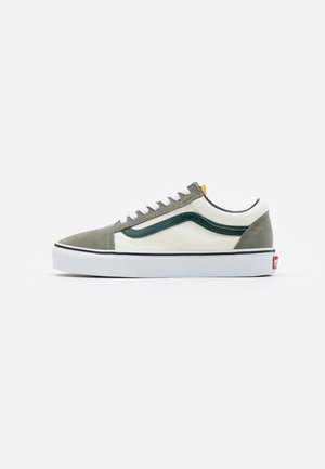 OLD SKOOL UNISEX - Sneakersy niskie - antique white/bistro green
