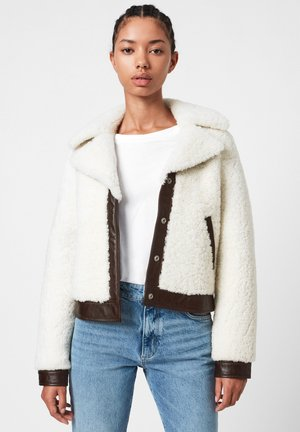Leather jacket - white