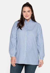 Sheego - Button-down blouse - offwhite gestreift - 0