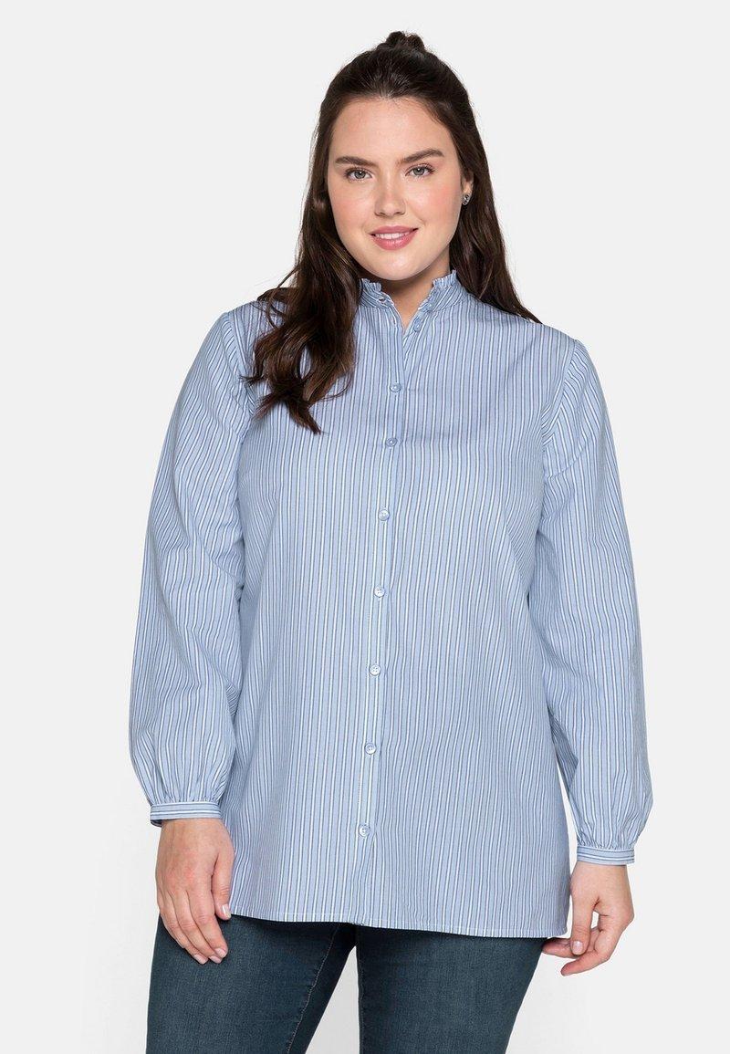Sheego - Button-down blouse - offwhite gestreift