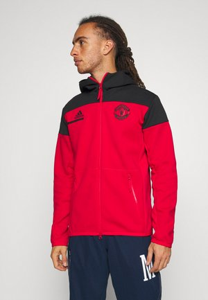MANCHESTER UNITED SPORTS FOOTBALL JACKET - Club wear - reared/black
