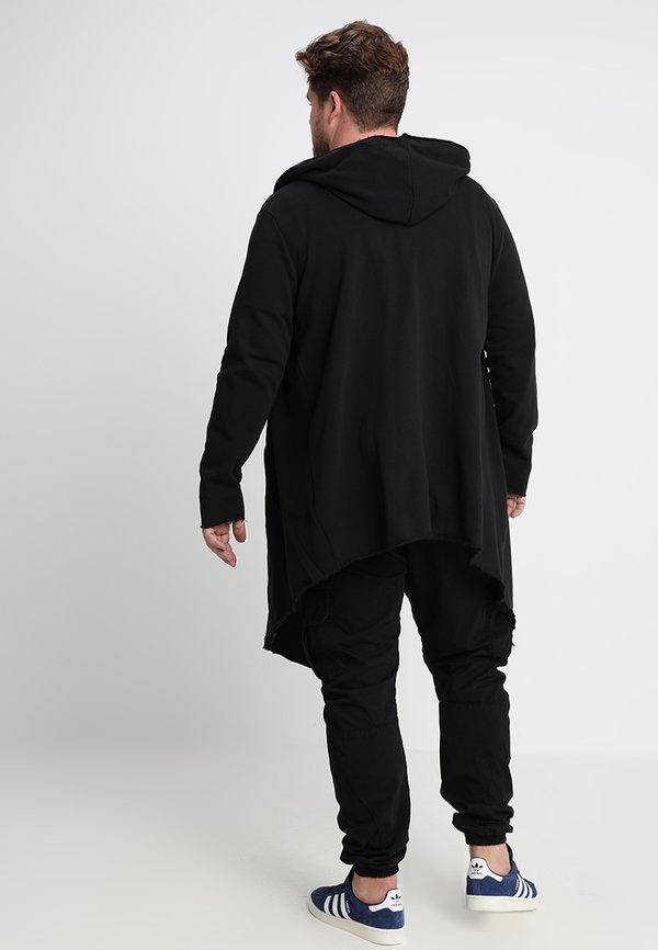Urban Classics LONG HOODED OPEN EDGE - Bluza rozpinana - black/czarny Odzież Męska BRMD