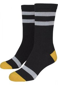 Urban Classics - 2 PACK - Socks - black/white/chromeyellow - 5