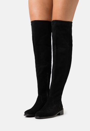 LEATHER - Over-the-knee boots - black