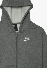 Nike Sportswear - HOODIE CLUB - Bluza rozpinana - carbon heather/smoke grey/white - 3
