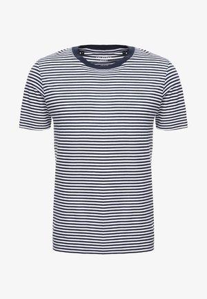 SLHTHEPERFECT  - Print T-shirt - brilliant white/dark sapphire