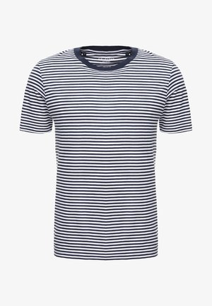 SLHTHEPERFECT  - T-shirt imprimé - brilliant white/dark sapphire